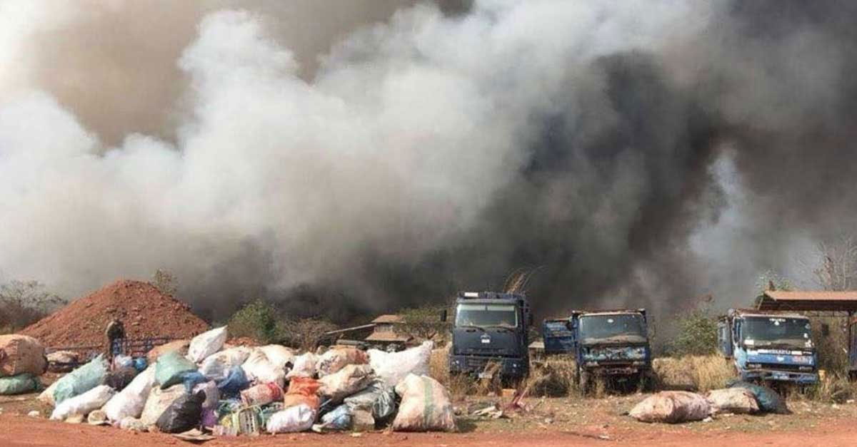 Landfill Fire Almost Out