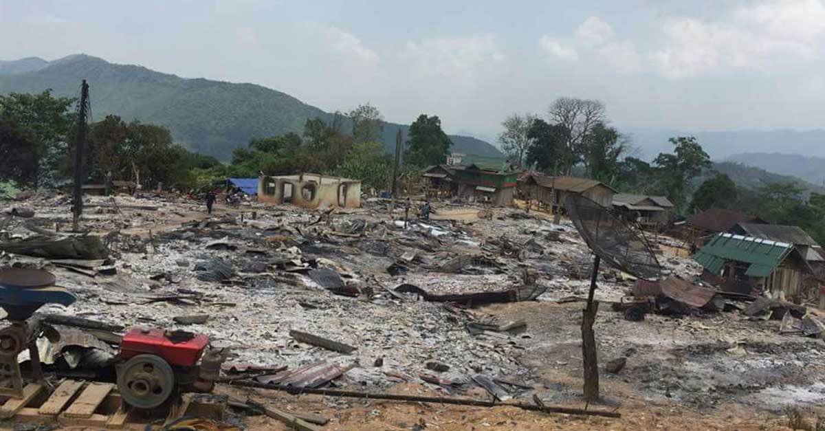Fire destroys homes in xieng khouang