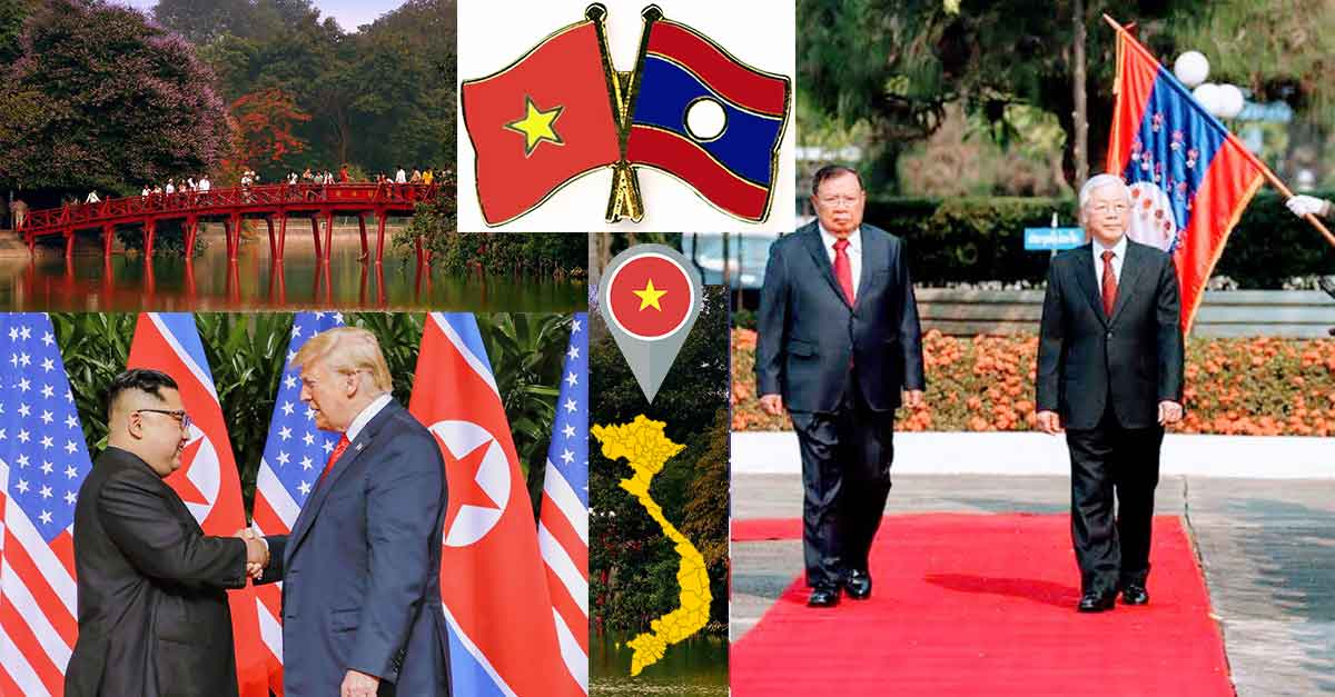 Vietnam & Laos leaders meet in Vientiane ahead of US-DPRK Trump-Kim Nuclear Summit in Hanoi