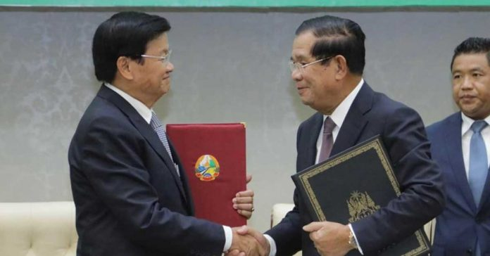 Lao Prime Minister Thongloun Sisoulith visits the Kingdom of Cambodia