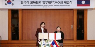 Laos to Teach Korean Language at Secondary School Next Year