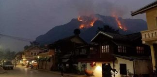 Forest Fires Rage in Northern Laos