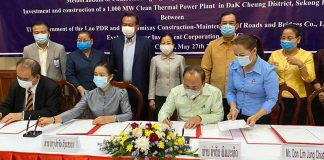 Singapore Joint Venture Thermal Power Plant in Xekong
