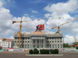 The new Laos National Assembly Building Under Construction (Photo: TF TRAVEL)