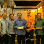 Gold Pouring Ceremony at Sepon Mine