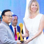 Ms Susie Martin receives the Friend of Laos Award