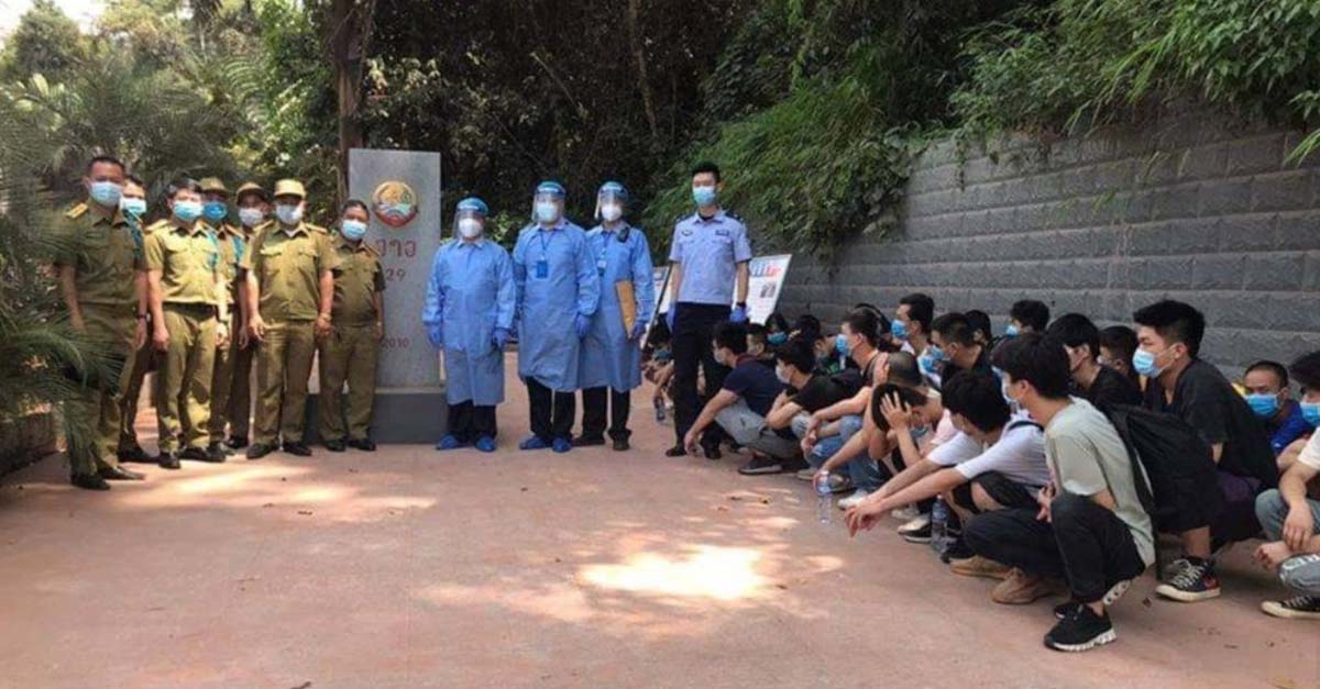 38 Chinese nationals deported to Jinghong after entering Laos illegally