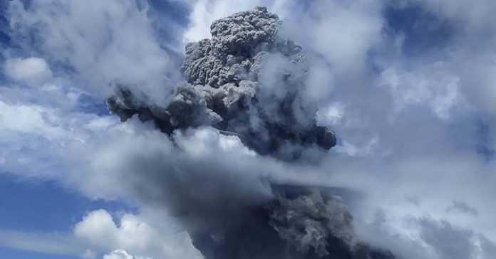Mount Sinabung in Indonesia Erupts