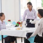 Students from Pakpasak Technical College undergoing training on food and beverage service