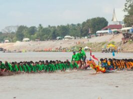 Scaled-down Boat Racing Festival in Vientiane