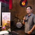 Mr Nouphanh Outsa speaks at the Lao Thiao Lao domestic tourism campaign launch