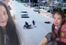 Brave young Lao woman fends off bag snatcher