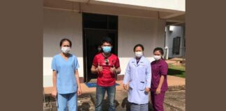 Another covid-19 patient discharged in Laos