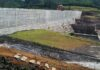 Rebuilt saddle dam at the Xe Pian Xe Namnoy hydropower project.