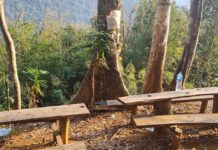 Littering at tourist sites in Laos