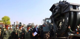 Russia Provides Military Engineering Vehicles and Equipment to Laos