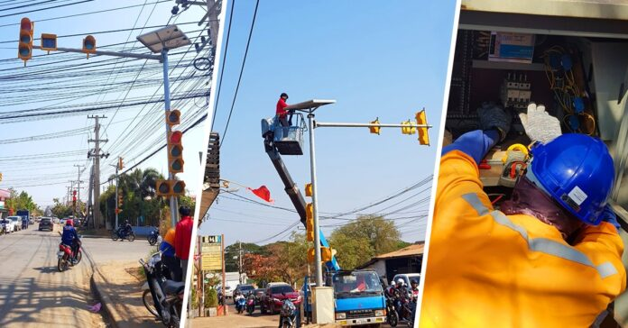 Traffic lights get upgraded in Vientiane Capital