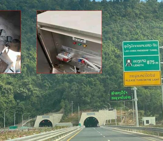 Cable Stolen from Vang Vieng Expressway Tunnel