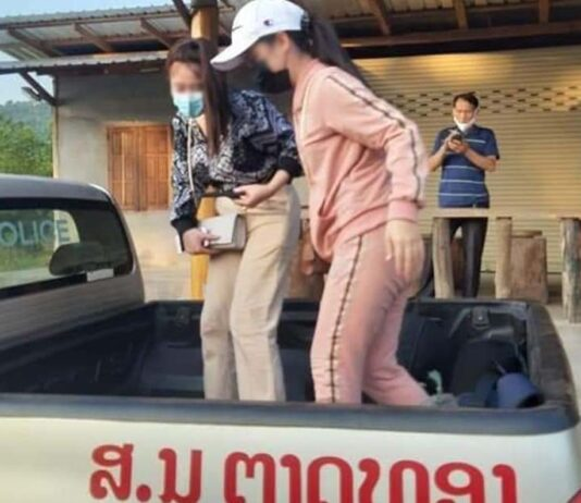 Two migrant workers attempt to illegally return to Laos