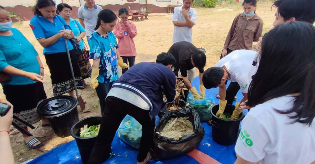 Villagers learn about the benefits of home composting