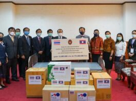 Thailand donates to Laos to assist in fight against Covid-19