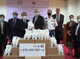 United States Presents Personal Protective Equipment and Supplies to Lao Minister of Health
