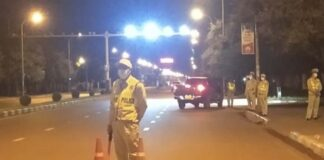 Vientiane police out in force
