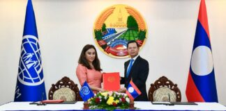 The Government of the Lao People's Democratic Republic and International Organization for Migration co-sign the cooperation agreement to formalize partnership to strengthen relations further