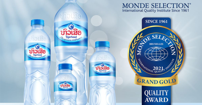 Tigerhead Drinking Water recognized again for world-class quality. Awarded Grand Gold at the Quality Awards 2021 by Monde Selection.